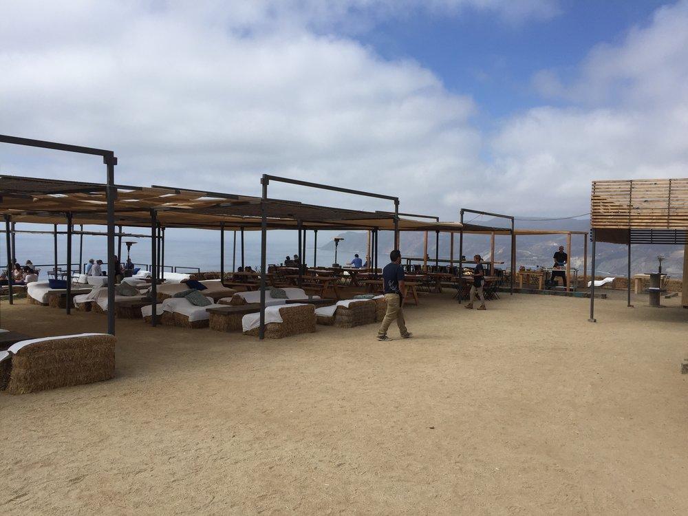 CuatroCuartos ocean view bar seating area