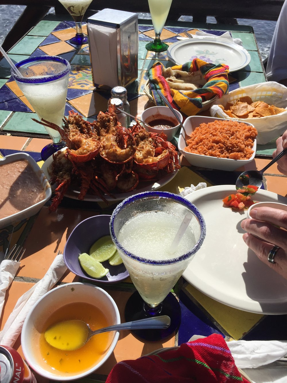Can't forget to order margaritas with your lobster feast!