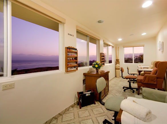 View from the massage tables! Photo credit:  Spa Ventana al Mar