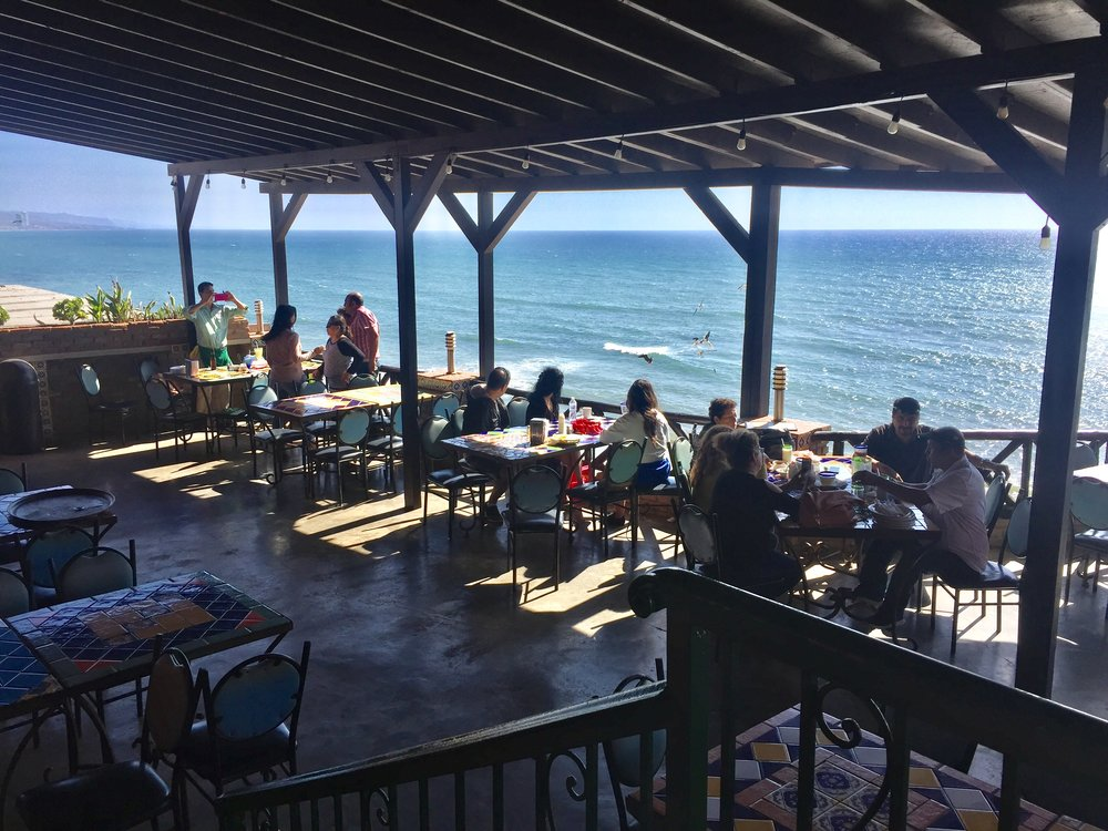 One of  our favorite spots to eat in Puerto Nuevo , Siete Mares!