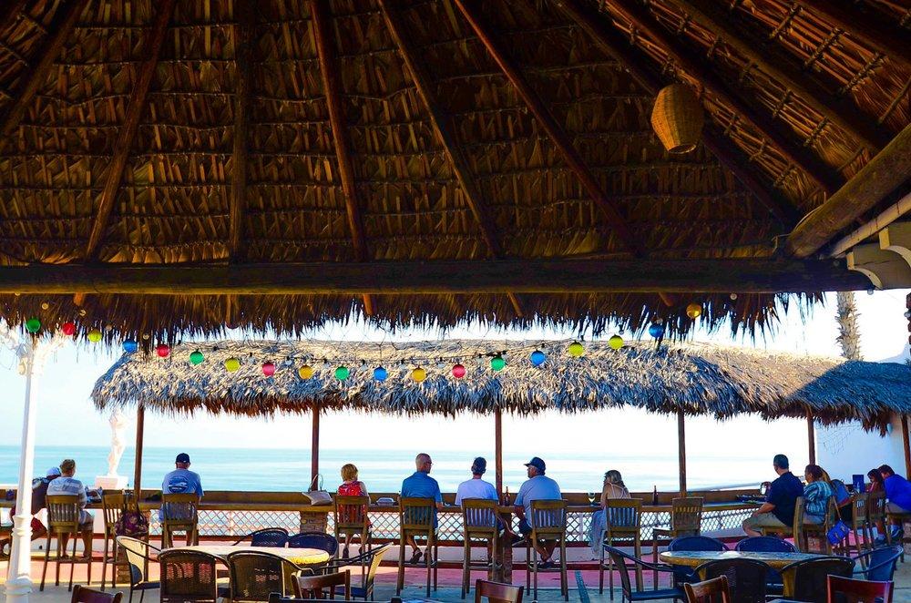 Beach bar at Baja Calypso. Photo credit:  Baja Calypso