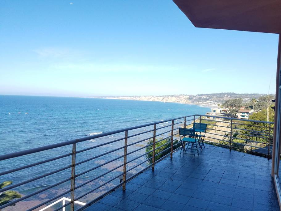 Ocean View from Balcony Patio. Photo credit:  Airbnb