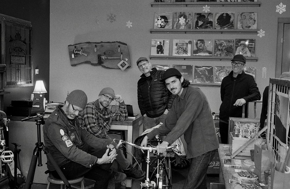 Rivelo Regs: Soul Joel, Dr. Squirrel, Holger, Matt, and Smitty. At Rivelo. Sunday, February 17, 2019.