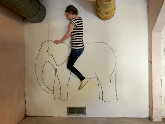 "Elephant Ride,2014 c-print 25"" x 34"""