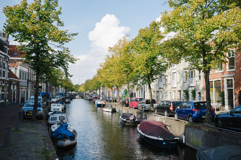 One of the canals in Haarlem. Photo taken with Fuji X100S, edited with VSCO.