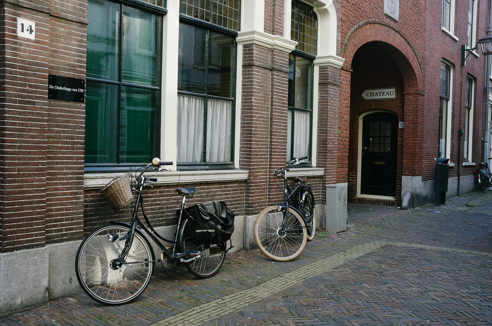 So many bikes in Haarlem. Photo taken with Fuji X100S, edited with VSCO.