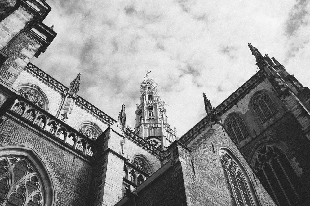 St. Bavo Church, Haarlem. Photo taken with Fuji X100S, edited with VSCO.