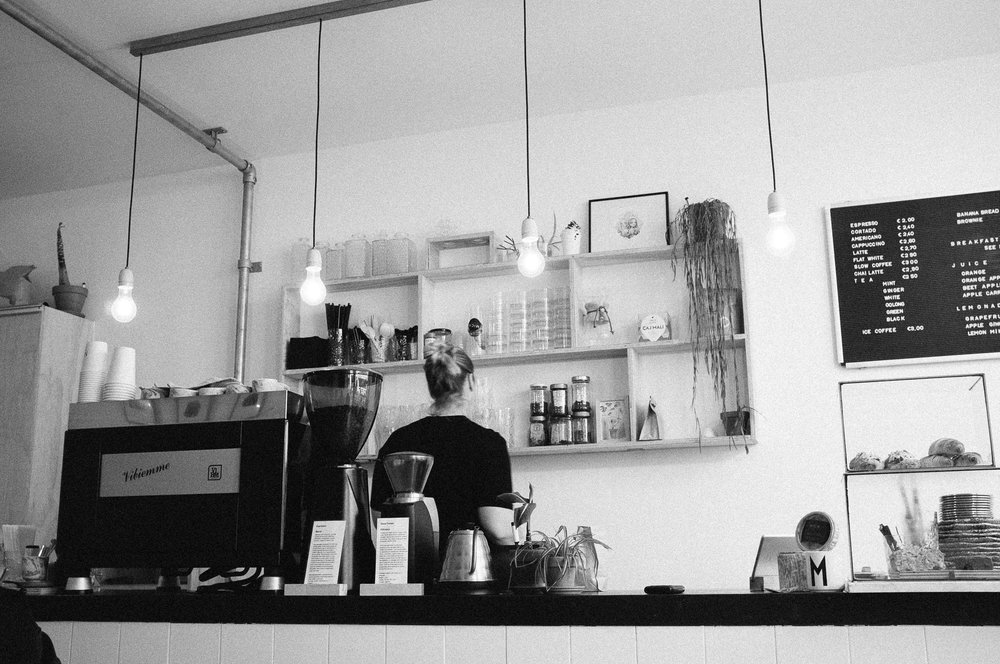 MICA Coffee Bar, Haarlem. Photo taken with Fuji X100S, edited with VSCO.