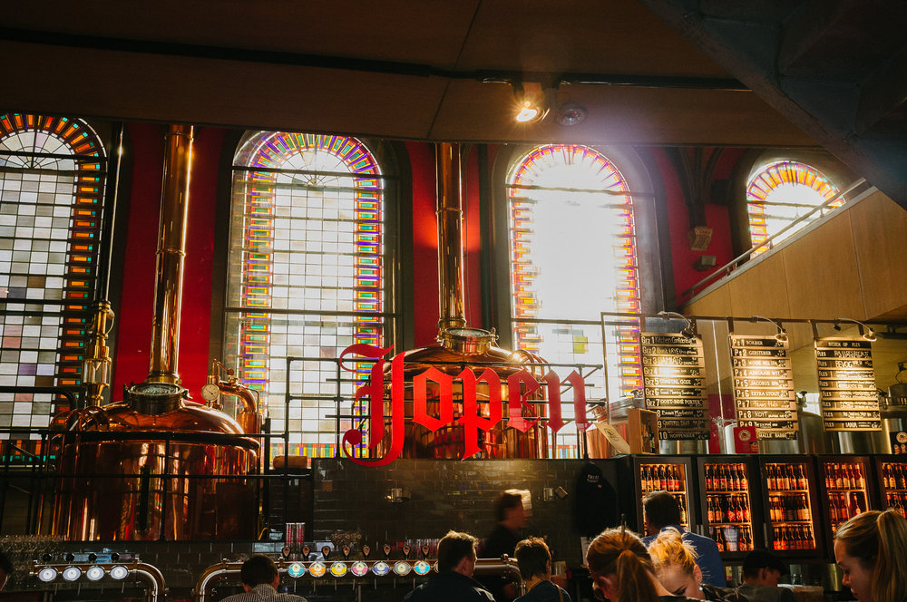 Jopen Brewery, Haarlem. Photo taken with Fuji X100S, edited with VSCO.