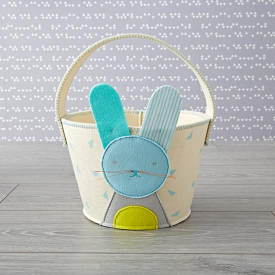 8 Great Easter Basket Ideas for Babies and Toddlers | Bunny Basket from Land of Nod