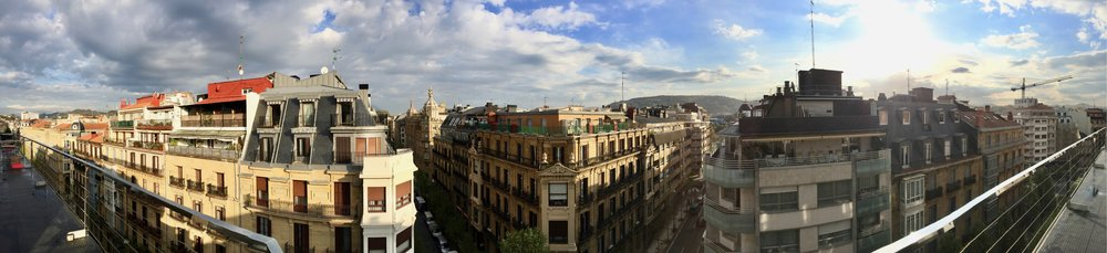 View from Andrea's apartment in the center of San Sebastian