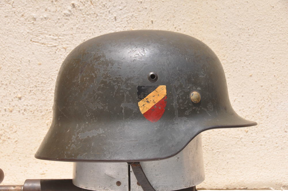 German World War 2 Luftwaffe M 36 Double Decal Helmet