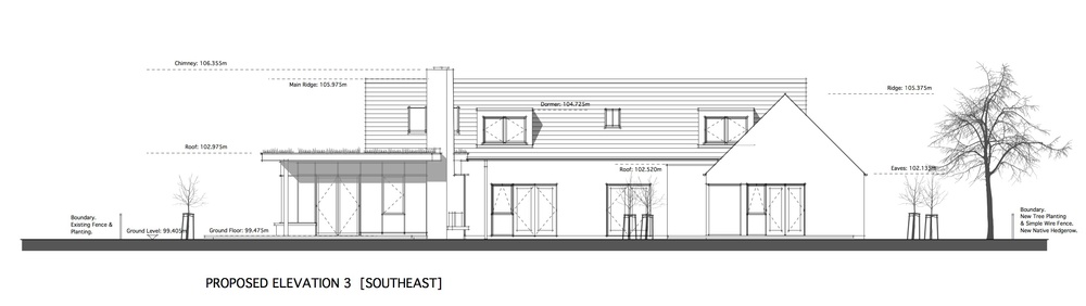 Proposed South Elevation - Sheltered Courtyard.