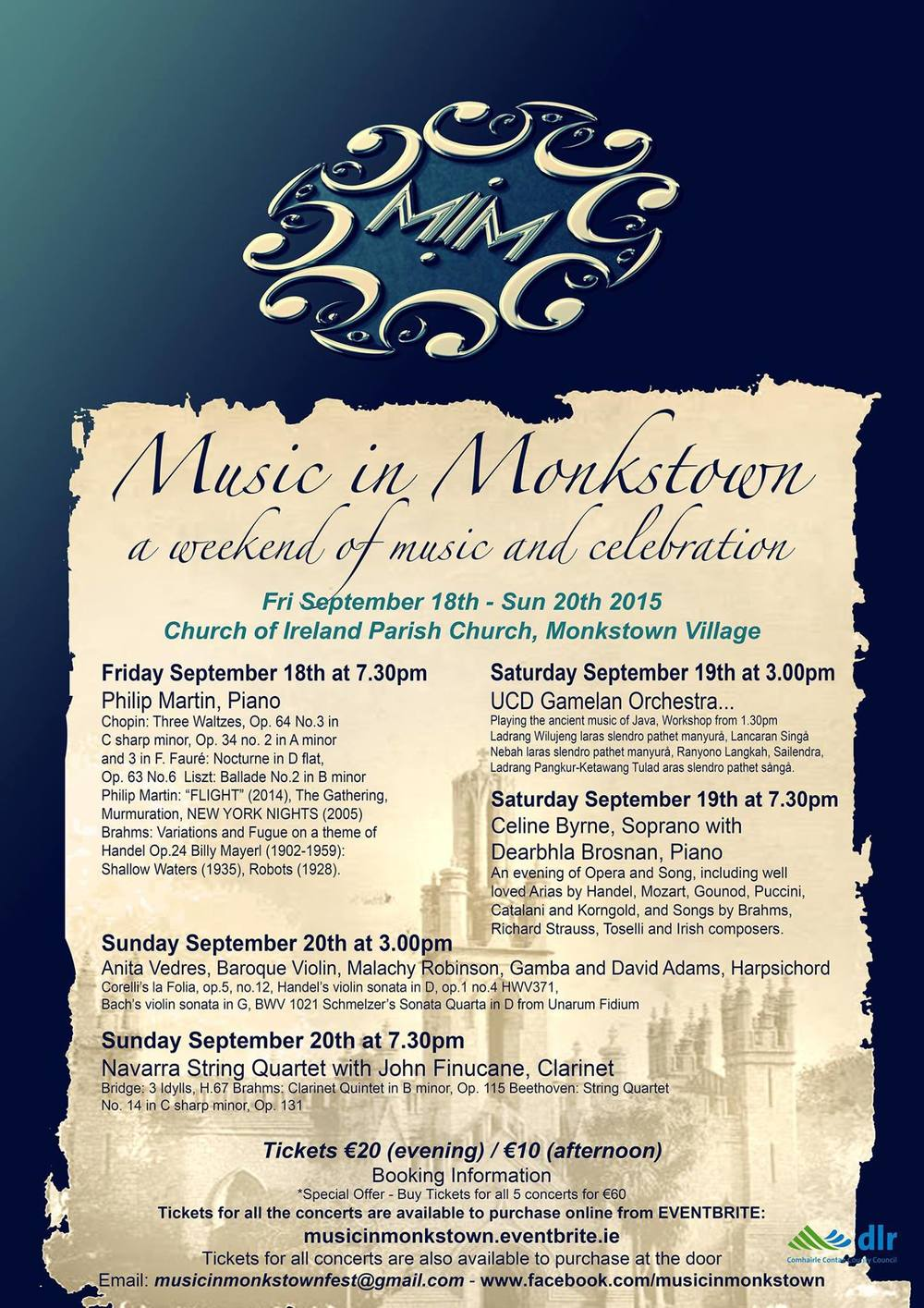 Music in Monkstown Programme.