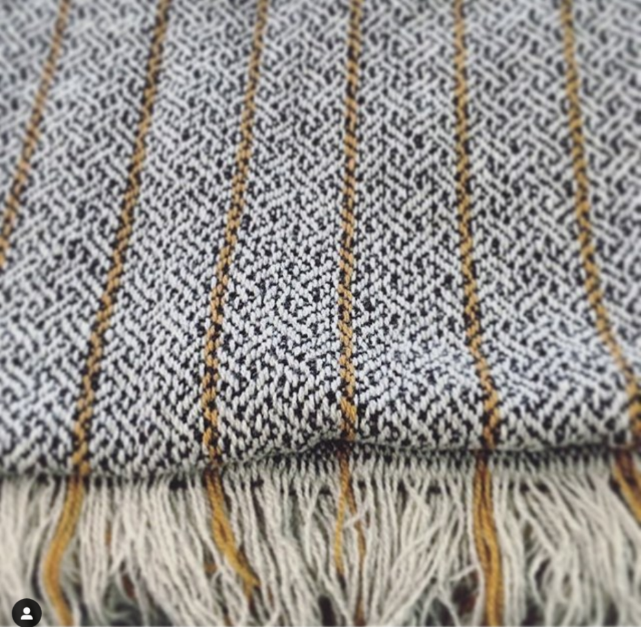 Scarves and Throws- SOLD OUT   Scarf : 200 x 35cm - £60  Blanket Scarf: 200 x 70 cm - £120  Throw: 200 x 140cm - £245    Made with Bristol Cloth and finished with a cold wash to give a soft and slightly fluffy quality.  With fringed ends.  Dispatched late Feb