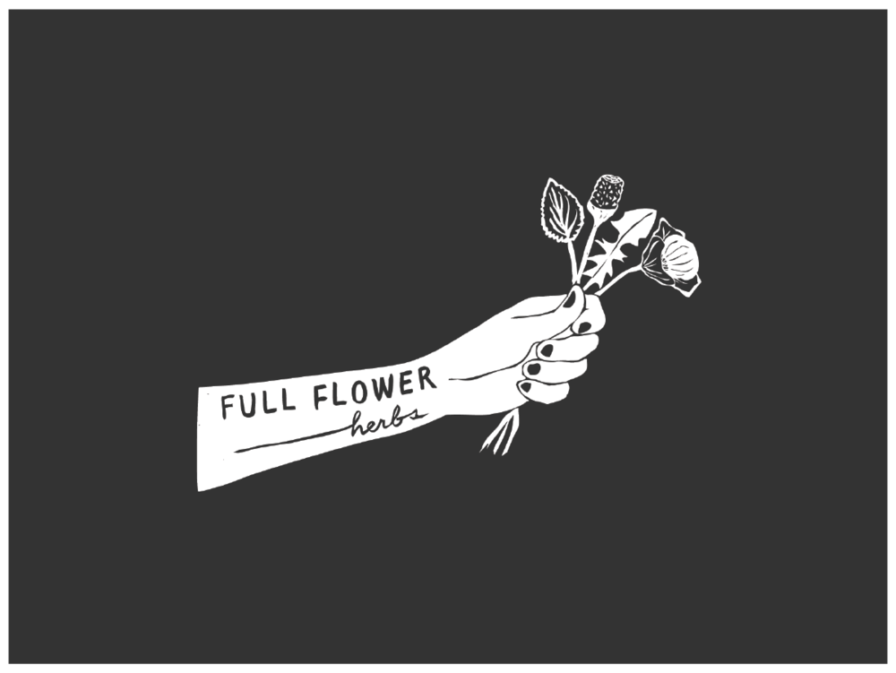 Concise Logo for Full Flower Herbs