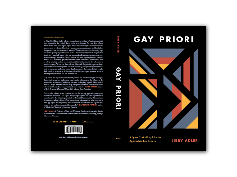 Illustration + Cover Design for  Gay Priori  [Duke Press]