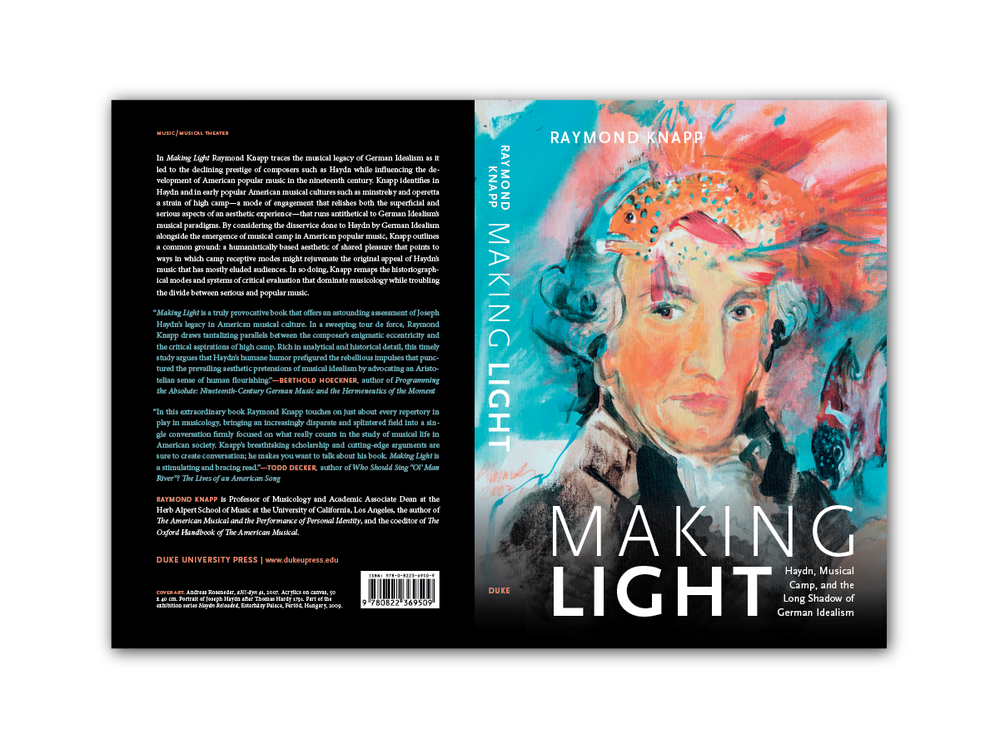Cover Design for  Making Light  [Duke Press]
