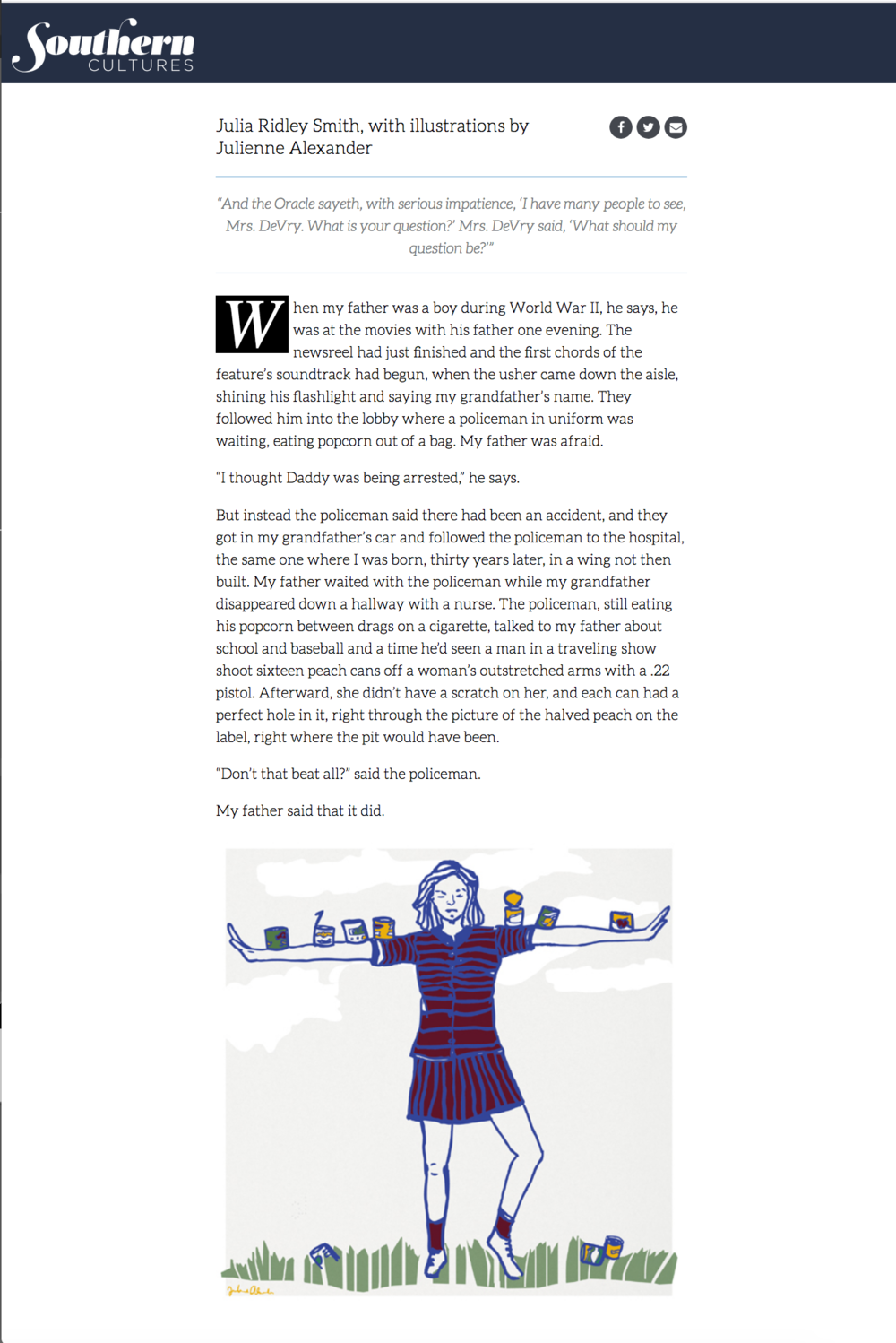 """Mrs. DeVry, Why Do You Cry?"" Illos - 21c Fiction Issue (screenshot)"