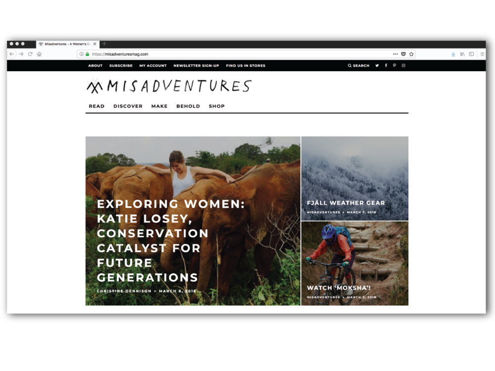 Misadventures.com with logo