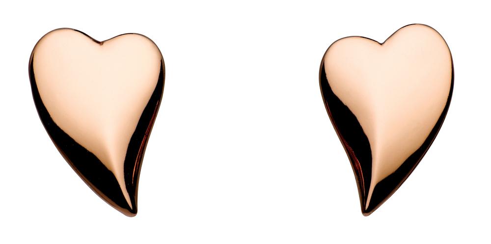 Kit Heath rose gold plated stud earrings