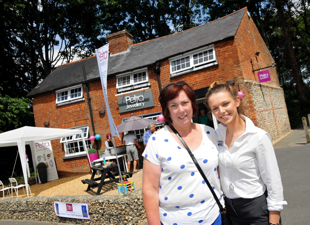 PETRA MARKETING ASSISTANT AMBER WITH HER GRANDMOTHER, WHO PREVIOUSLY LIVED IN THE NEW SHOP PREMISES.
