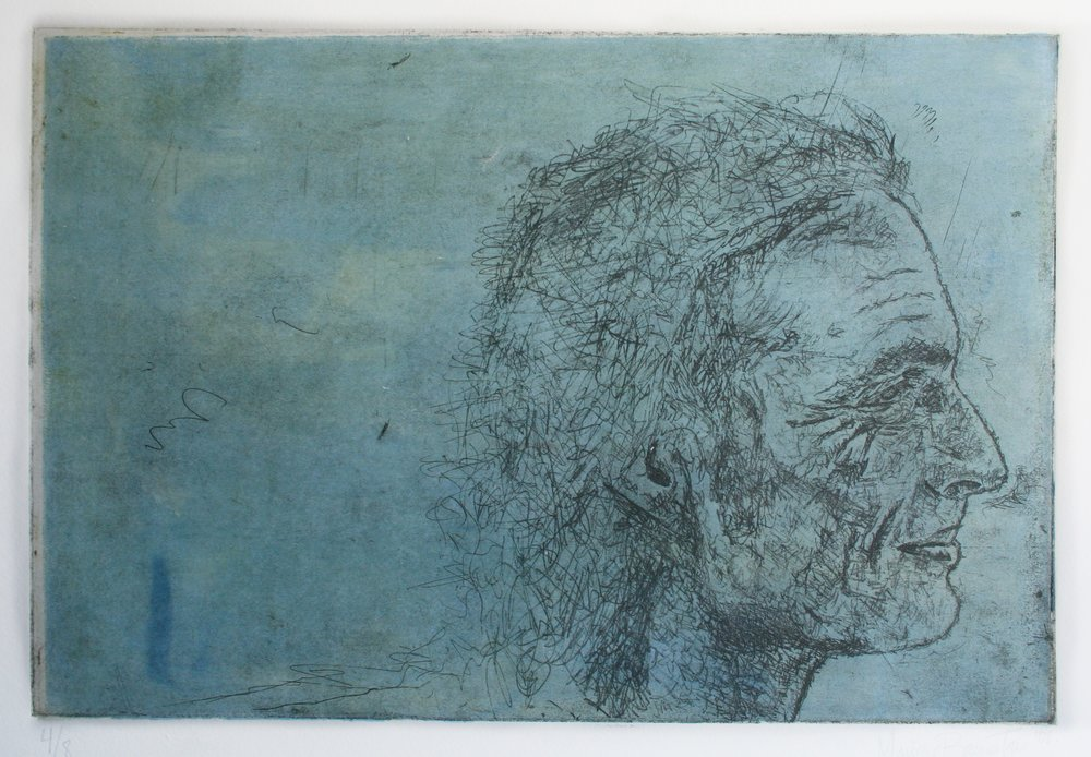 copper etching on paper