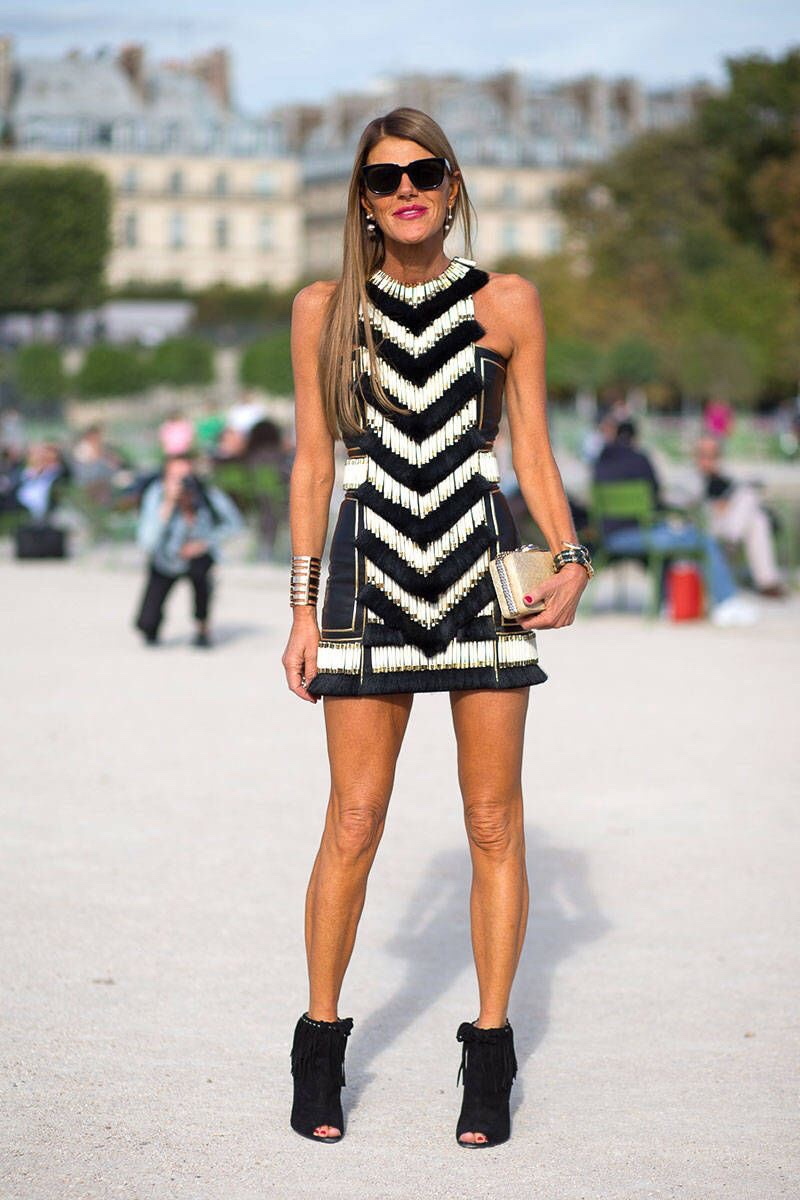 Balmain Forever Anna Dello Russo's street style at Paris Fashion Week Spring 2014- on point. Love this look. //SHE