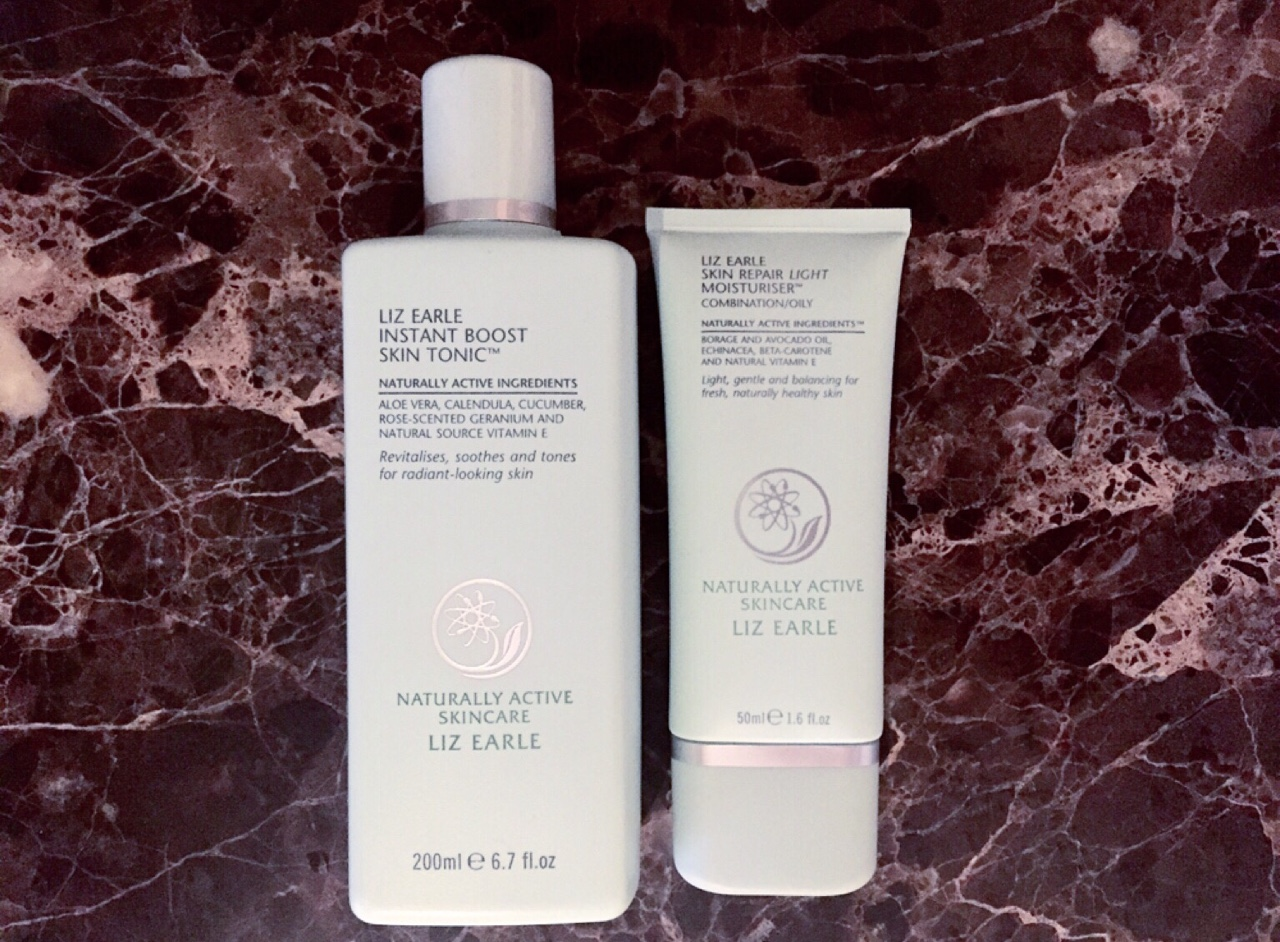 Silky Smooth Skin New Liz Earle products- the Instant Boost Skin Tonic (toner) and the Skin Repair Light Moisturiser. Perfect for oily skin. //SHE