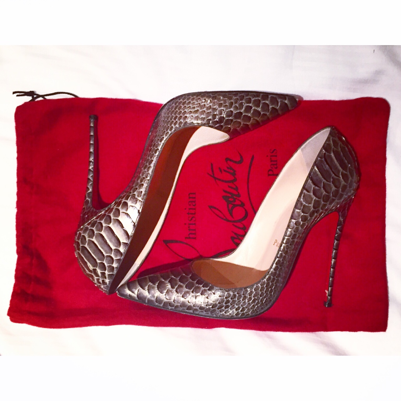 Python So Kate Python Loubs for dinner last night at the Strathearn- Gleneagles. //SHE