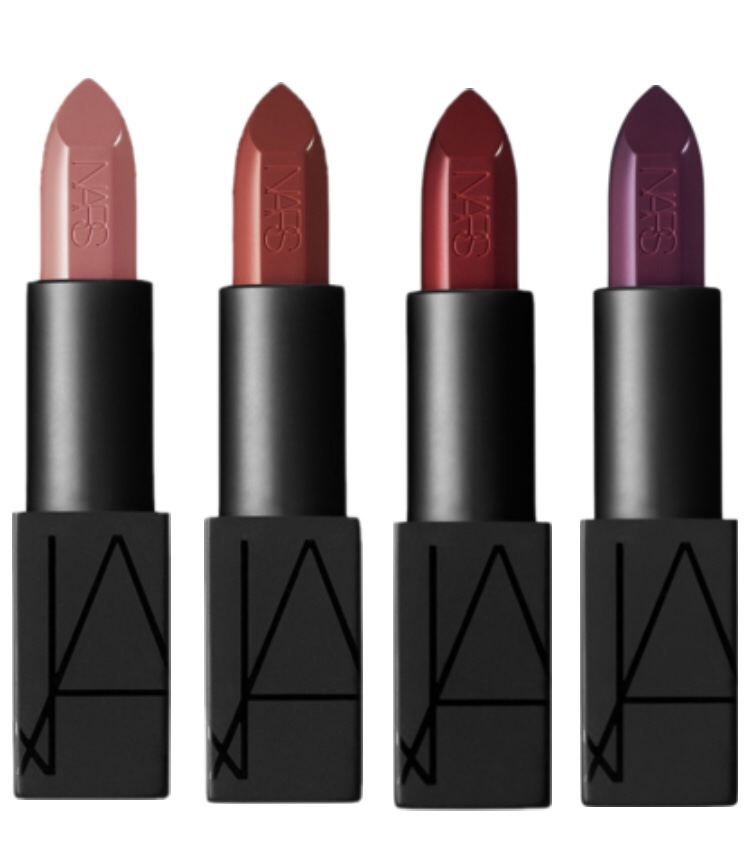 Autumn Lips Loving neutral daytime colours & darker evening colours for Autumn. NARS Cosmetics have the perfect shades. //SHE