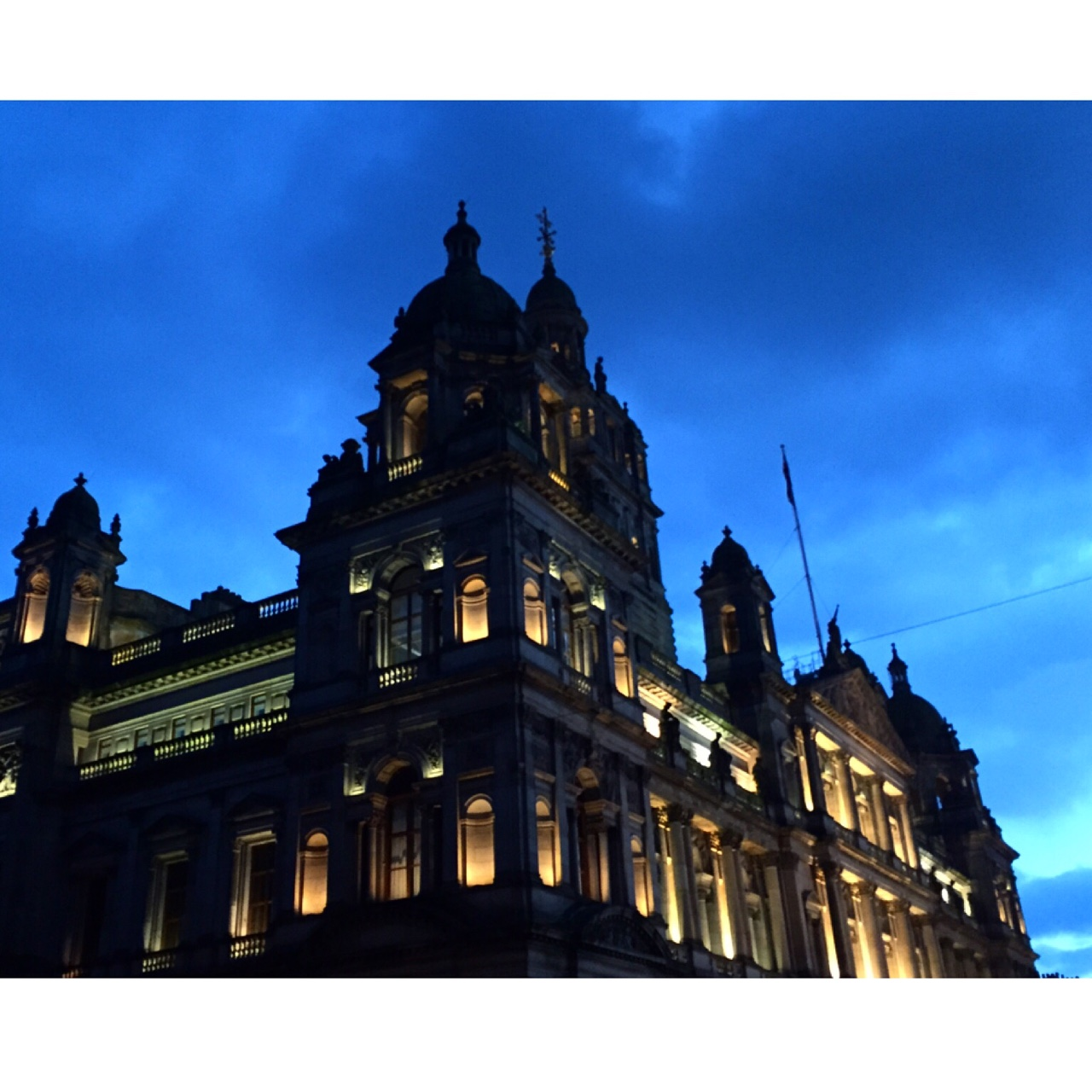 Look up Beautiful architecture in Glasgow- Glasgow City Chambers in George Square. //SHE