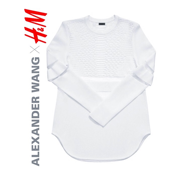 Purchase of the Day Managed to get The Top with a Perforated Pattern in White from the Alexander Wang X H&M Collection before it Sold Out Online- Love! //SHE