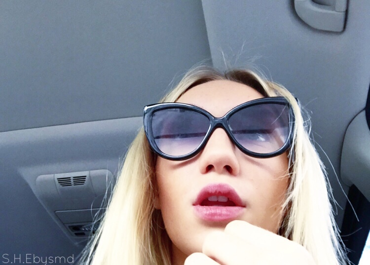 Winter Sun Wearing Faded Cat Eye Sunglasses from Nasty Gal Today. //SHE