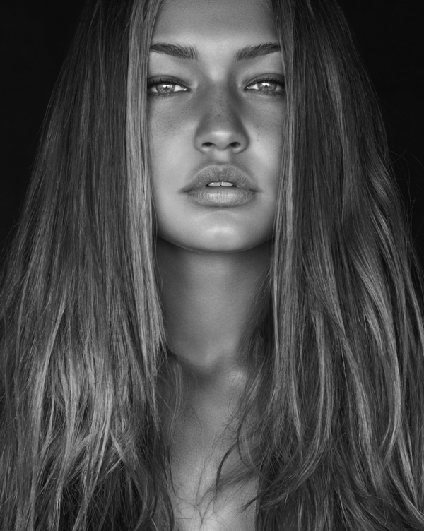 WCW Gigi Hadid- Natural Beauty. Love This Black & White Shot. //SHE