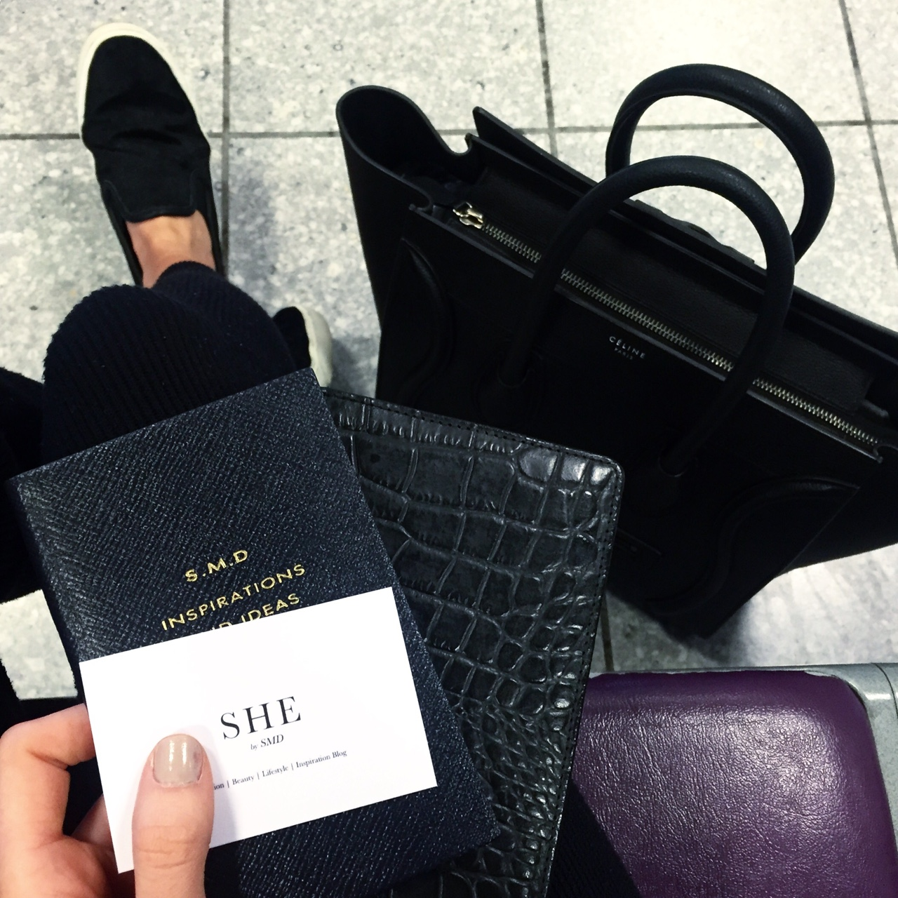 En route to MFW. Blogger head on… S H E