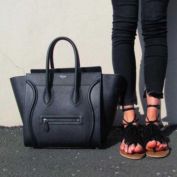 Céline Luggage & Next Sandals.