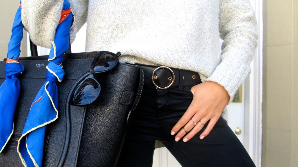 H&M pearl & mix rings,Zara circle belt.