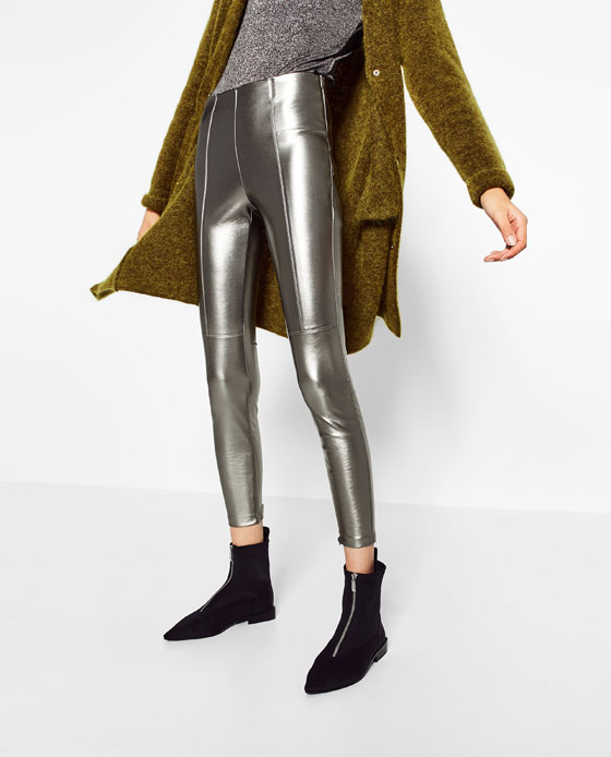 ZARA - METALLIC LEGGINGS