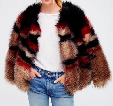 FREE PEOPLE - FAUX FUR JACKET