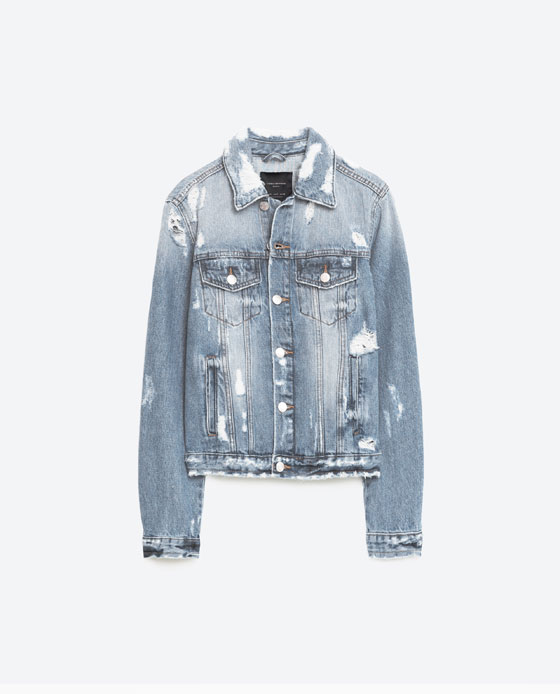 ZARA - DESTROYED DENIM JACKET