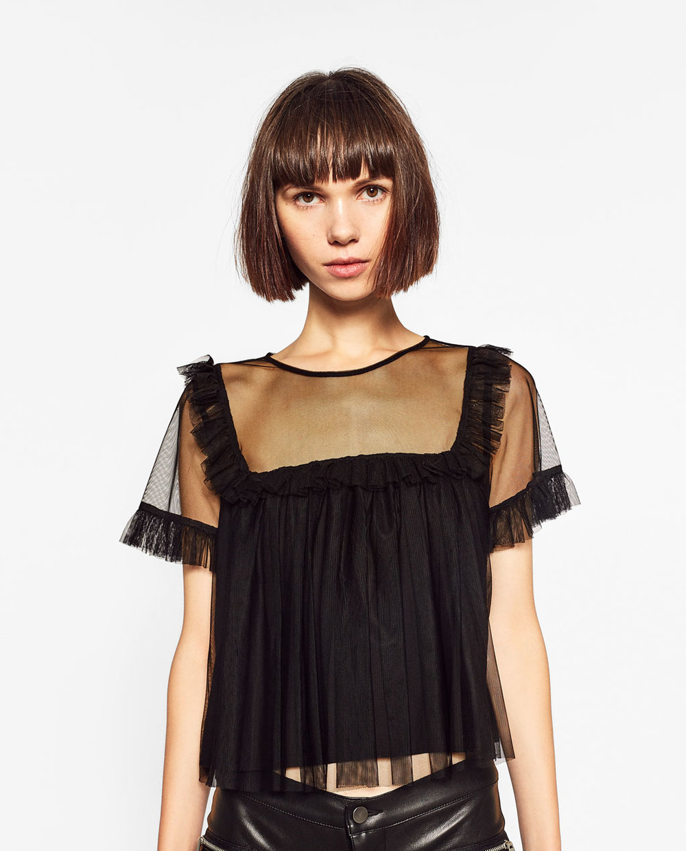 ZARA - TULLE TOP
