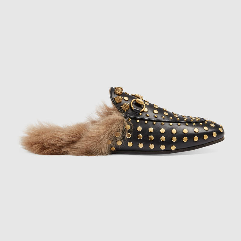 GUCCI STUDDED SLIPPERS