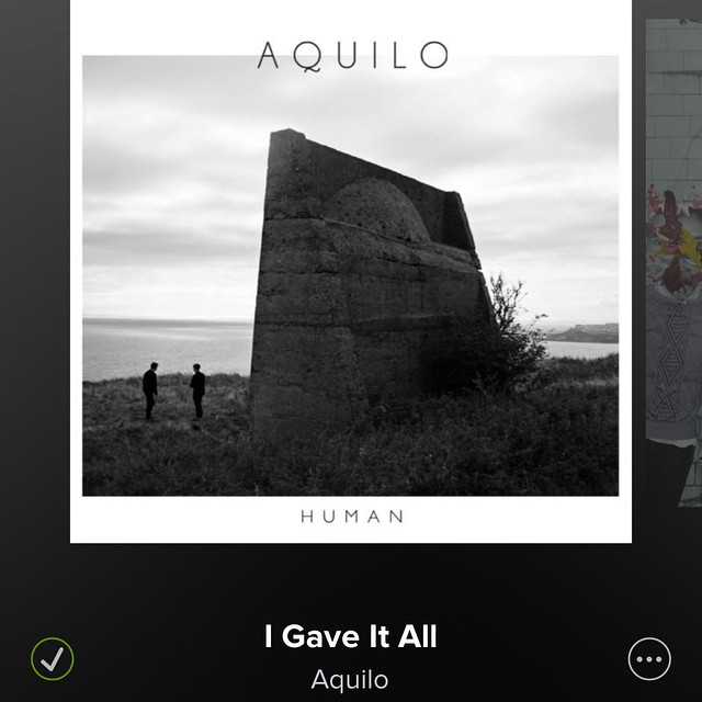 #Always #GiveItAll Saturday's Song.