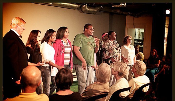 """Faces of Hope - The cast of The Cardboard Stories recorded original music and are seen here performing the song """"Face of Hope"""" at a workshop of the play at The Studio@620 in St. Petersburg, Fla. The music was arranged by Steve Wilson, Michael Kernodle and Sylvester Bryant.(Listen to the song on the link below)."""