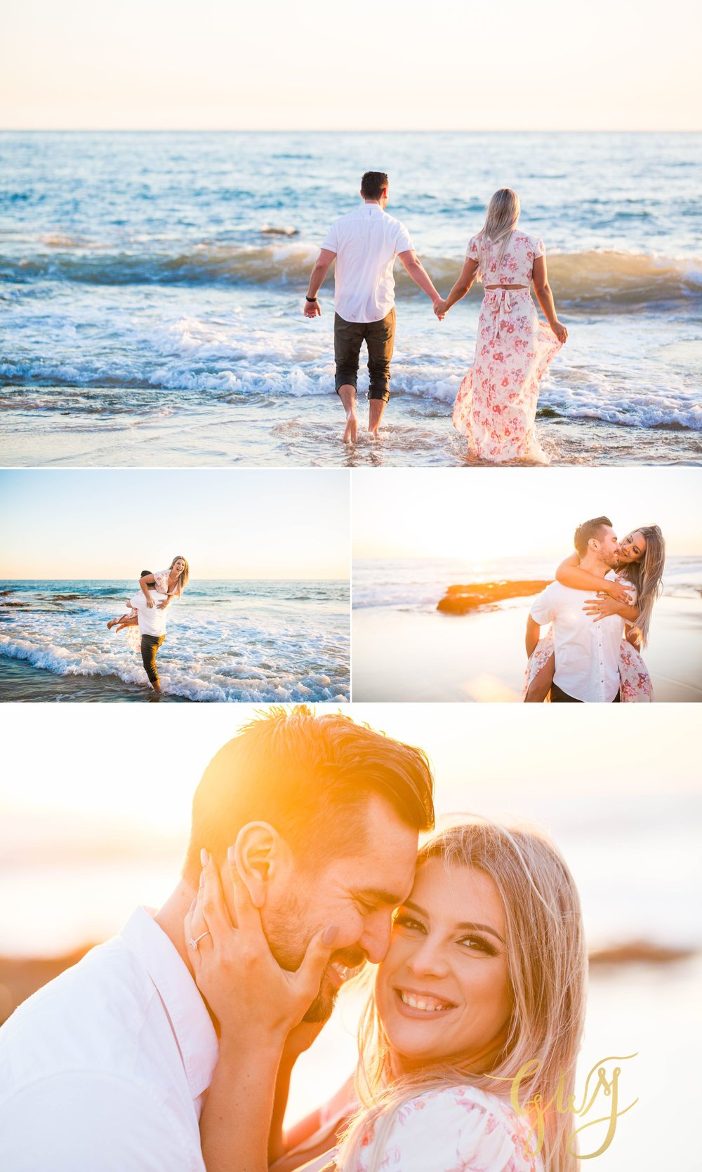 Christien + Crystal Back Bay Newport Crystal Cove Reef Point Sunset Engagement Portrait Session by Glass Woods Media 19.jpg