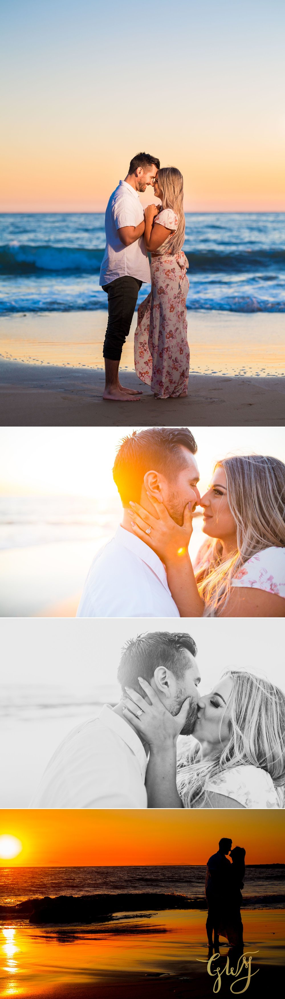 Christien + Crystal Back Bay Newport Crystal Cove Reef Point Sunset Engagement Portrait Session by Glass Woods Media 21.jpg