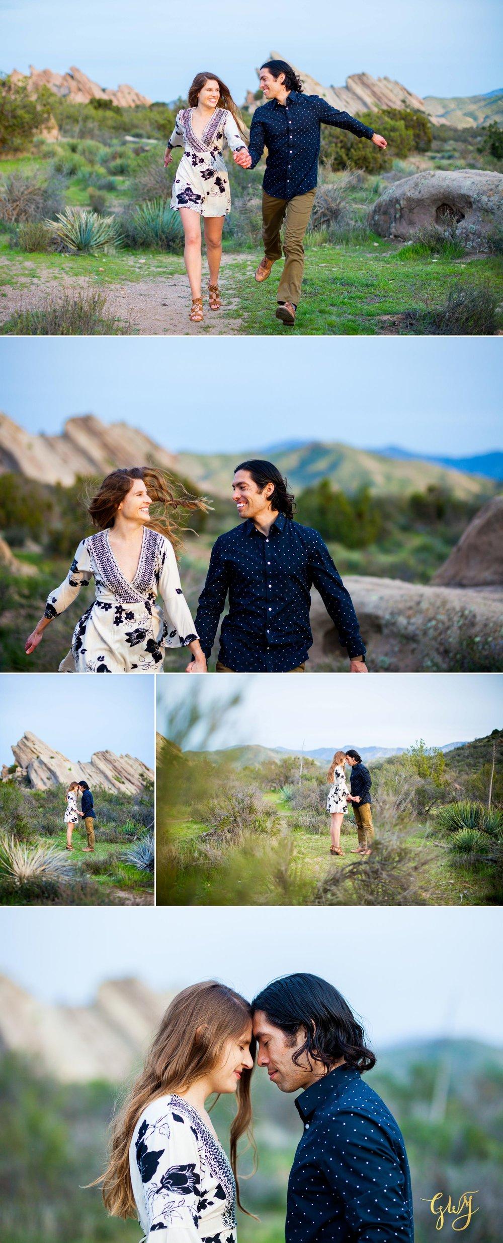 Jose + Sarah Vasquez Rocks Hike at Sunset Adventurous Engagement by Glass Woods Media 16.jpg