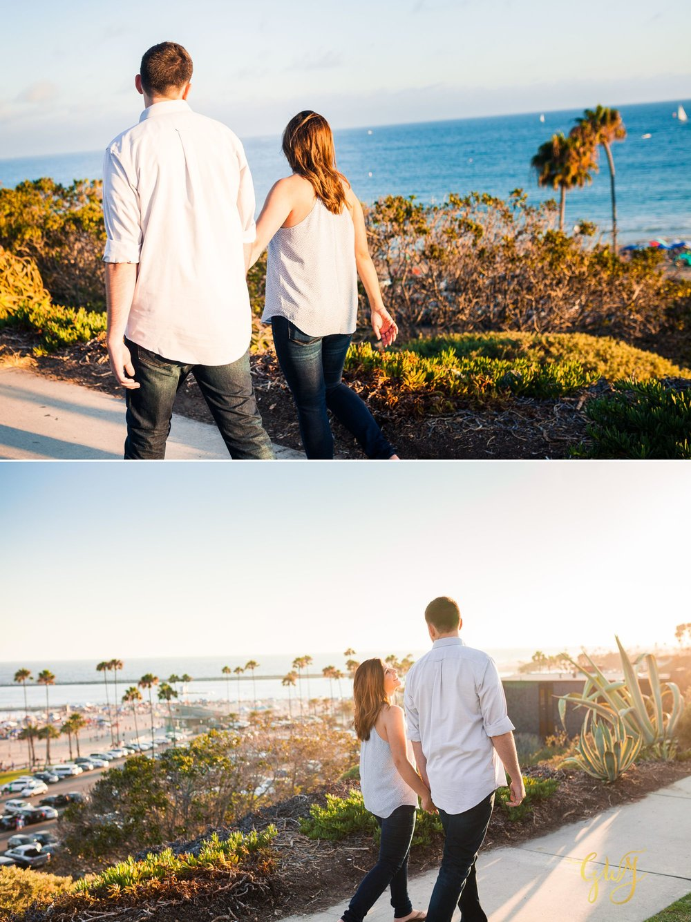 Allison + Jared Oak Canyon Nature Center Corona Del Mar Beach Sunset by Glass Woods Media 8.jpg