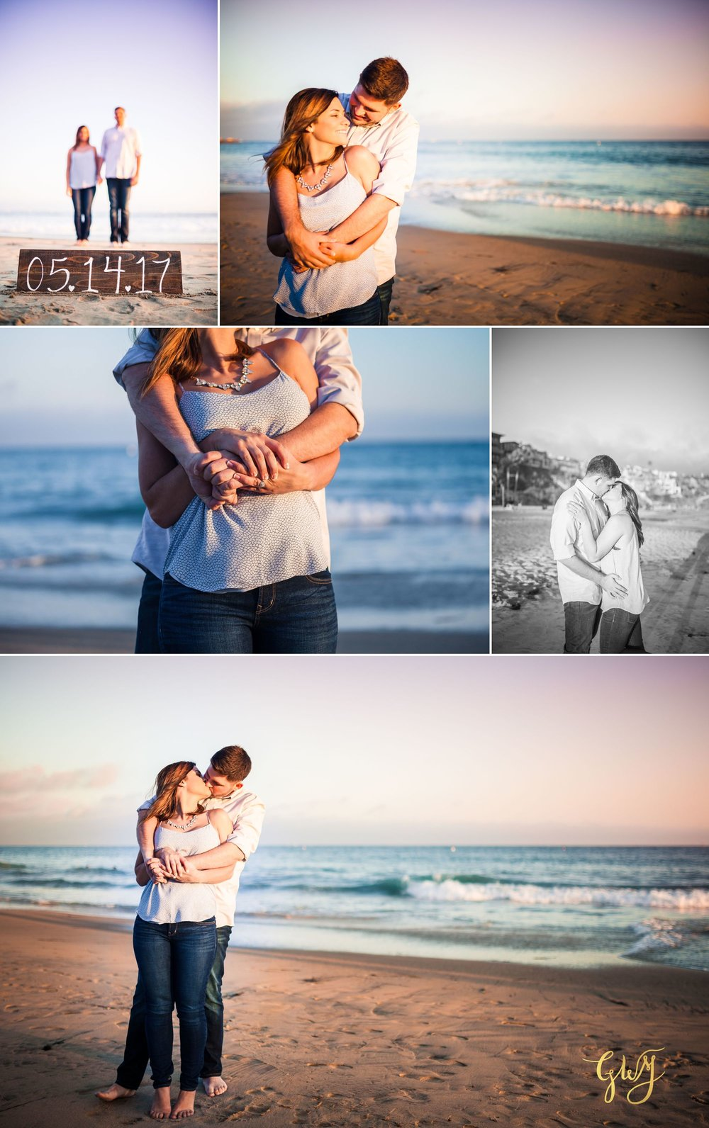 Allison + Jared Oak Canyon Nature Center Corona Del Mar Beach Sunset by Glass Woods Media 10.jpg